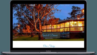Riverscape on Laptop Design+GoLive
