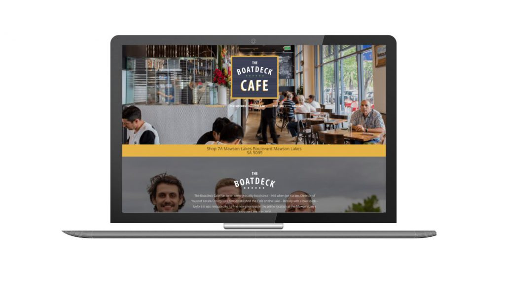 Design and Go Live The Boat Deck Cafe