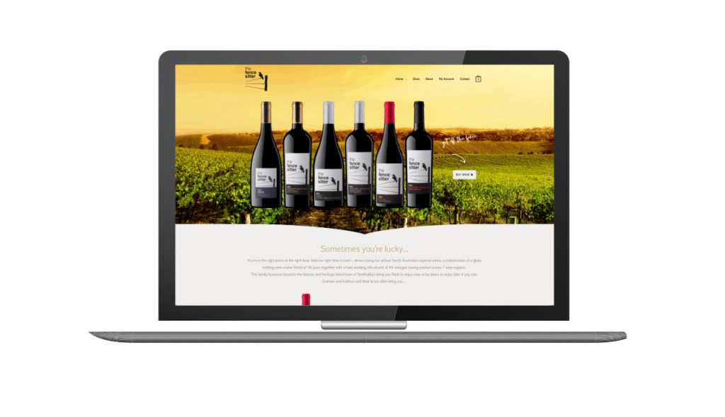 Design and Go Live The Fence Sitter Wines