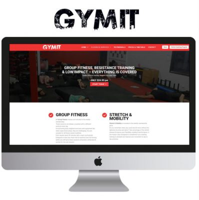 Gymit Website Design by Design and Go Live